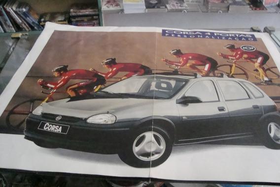 Poster Cartaz Foto Catalogo Chevrolet Corsa 4 Portas Acessor