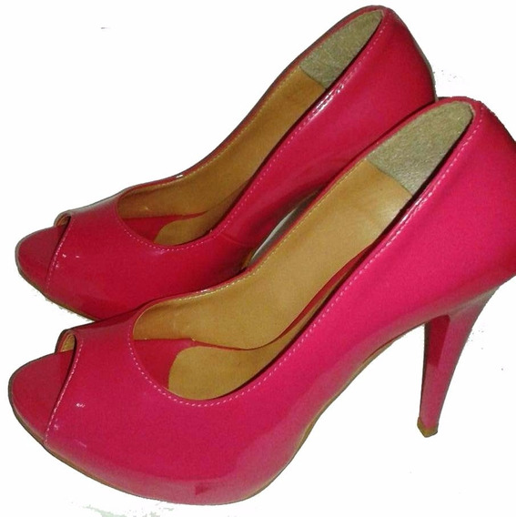 Peep Toe Salto Alto Pink - Vera Calçados (4)