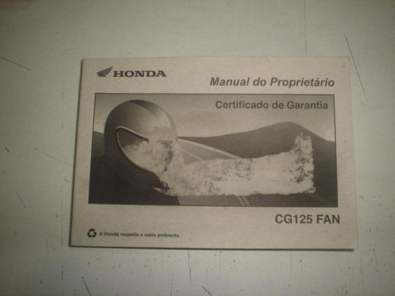 Manual Moto Honda Cg 125 Fan 2008 2009 2010 Original Titan