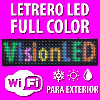 Letrero Led Colores Anuncio Publicidad Programable Display