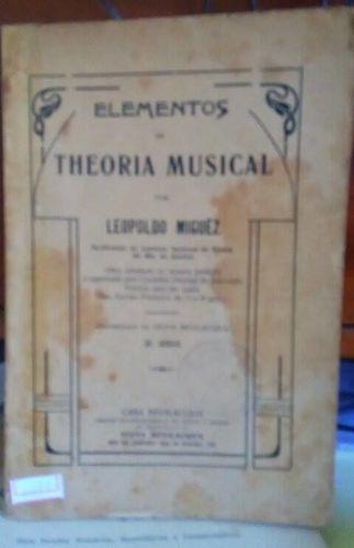 Revista Elementos De Theoria Musical Leopoldo Miguez