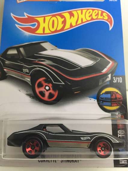 Hot Wheels Corvette Stingray - Preto