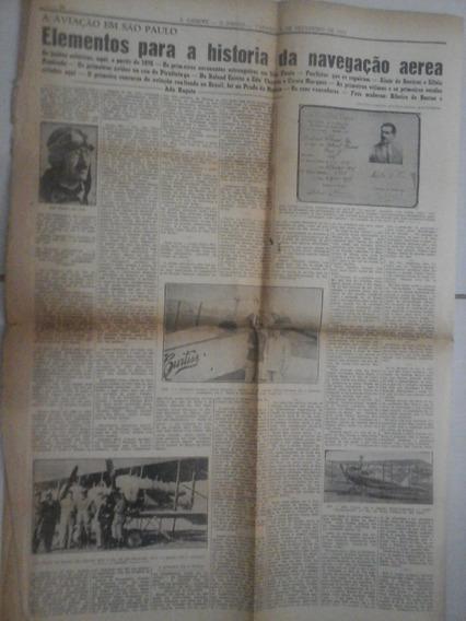 Jornal De 1954 A Aviação Em São Paulo