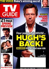 Tv Guide: Hugh Laurie / Tom Hiddleston / Melissa George