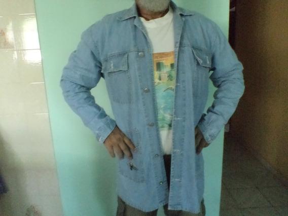 Casaco De Jeans Unissex Veste Até Ggg Masculino Ler Medidas
