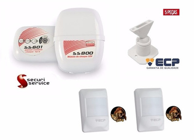 Kit Módulo De Choque Ss 800 12v + 2 Infra Pet + Kit Suportes