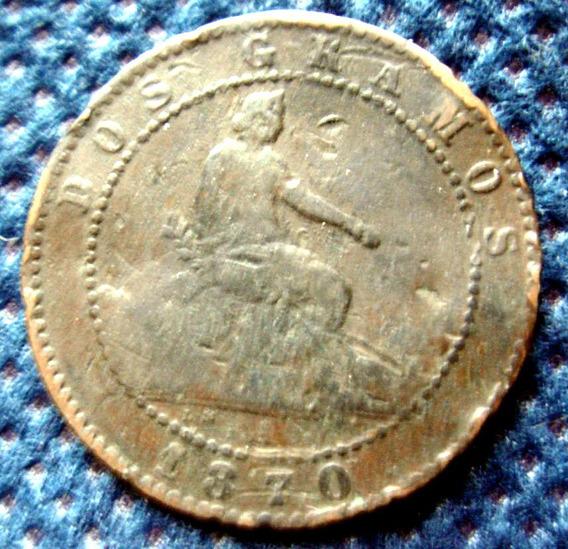 Lote Monedas 10 Y 2 Centimos España - 1870/1878