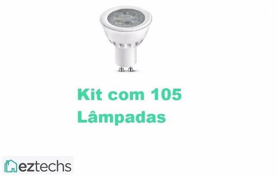 Lampada Led Dicroica Gu10 4,5w Bivolt 3000k - Kit 105