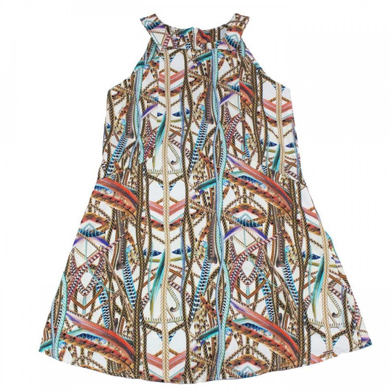 Vestido Infantil Feminino Acostamento Fashion Colorido
