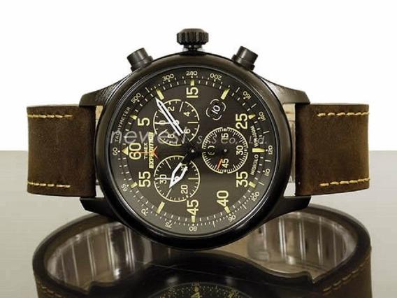 Relogio Timex T49905 Brown Leather Quartz Envio Grátis