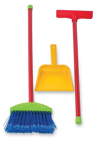 Set Limpieza Infantil Escoba Escurridor Pala Niñas Juguetes