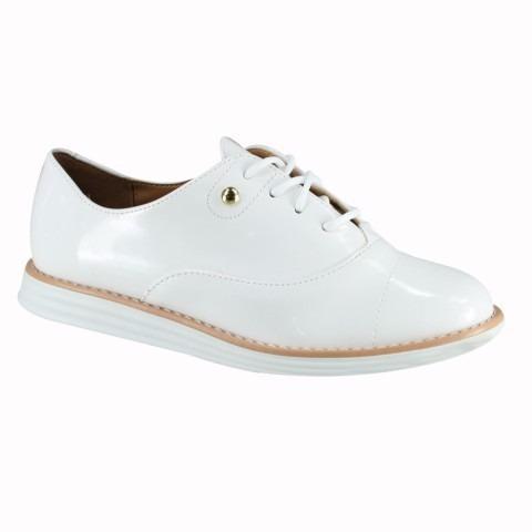 0a2629186 Sapato Feminino Oxford Vizzano Branco Verniz - R$ 99,00 em Mercado Livre