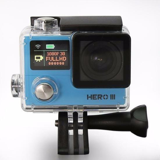 01 Camera Filmadora Goal Pro Hero 3 Full Hd 1080 Slim Wifi