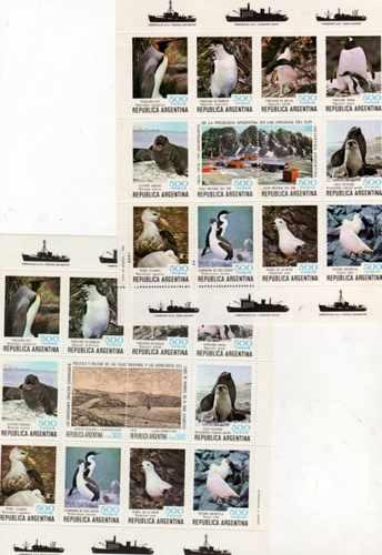 2 Bloques Numero 24 Al 25 Fauna Antartica Año 1980 Oferta