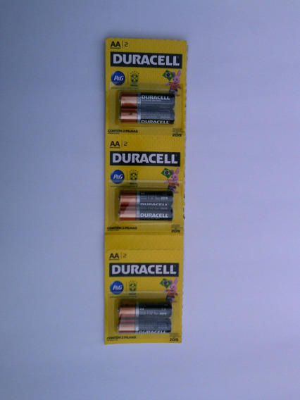 Pilha Duracel Pequena Carela C/6 Unidade ( Aa )