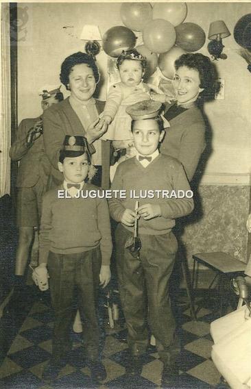 Ic Foto Cumpleaños Infantil Dec 50 Antiguo Disfraz Niños