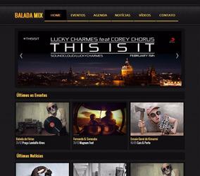 Script De Site De Baladas, Festas E Noticias (gratis Frete)