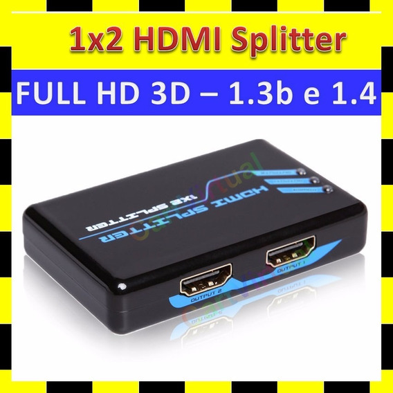 Divisor Splitter Hub Hdmi 1x2 Distribuidor Ps3 Xbox Tv Hdcp