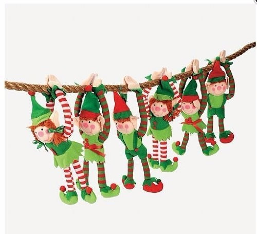 Juego De 12 Elfos Navideños Colgantes De Lujo. Navidad