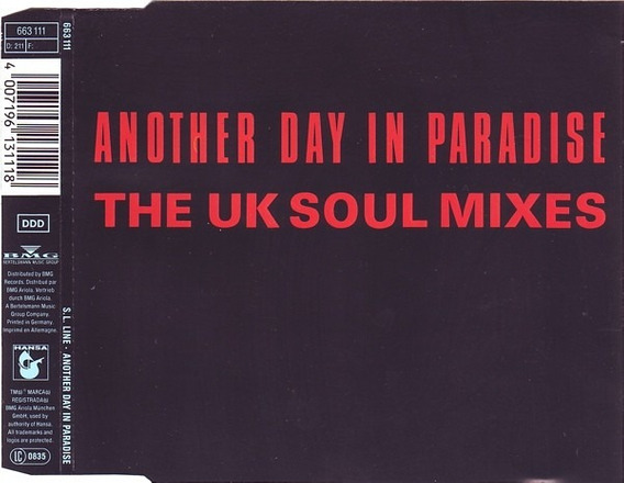 Cd Single S.l. Line - Another Day In Paradise