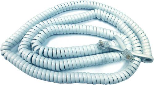 Imagen 1 de 3 de Cable Rulo Telefonico Armado 1.2 Mts Rj9 Blanco V2042