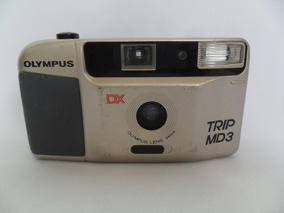 Câmera Máquina Fotográfica Antiga Olympus Dx Trip Md 3