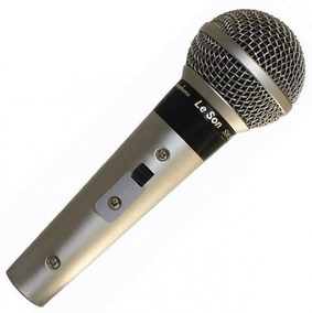 Microfone Dinâmico Leson Sm58 P4 Ab Com Cabo E Bolsa