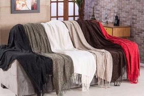 Kit 6x Mantas Para Sofa Capa Em Chenile - 1,20m X 1,80m