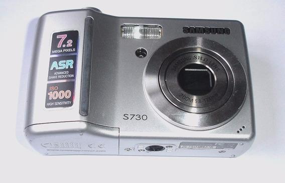 Câmera Samsung S730 Prata Para Retirada De Peças