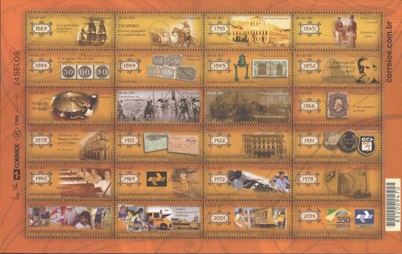 Folha Completa C-3249-3272 - História 350 Anos Dos Correios
