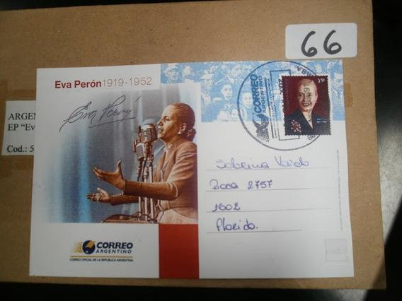 Argentina. Entero Postal Eva Peron 2002 Falso Circulado.raro