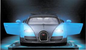 Bugatti Veyron Carro Modelo Diecast Som E Luz