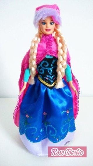Roupinha Princesa Ana Frozen Disney Para Bonecas