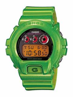 Reloj Casio Gshock Dw 6900 Verde Metalico Nuevo