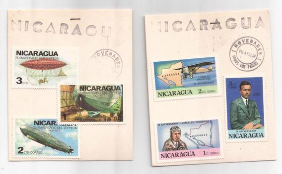Nicaragua 6 Estampillas Diferentes !!!