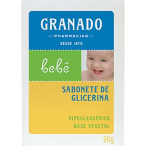 Sabonete Tradicional Barra Glicerina P/ Bebês 90g - Granado