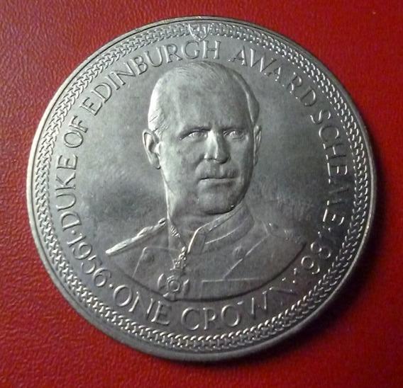 Isla De Man Felipe Duque De Edimburgo 1 Crown 1981