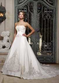 Vestido De Noiva - Marfim - 36 - Pronta Entrega - Vn00036