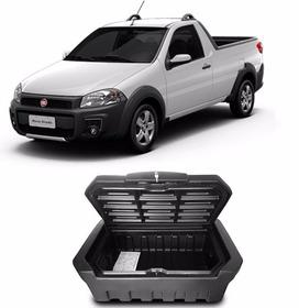 Caixa Baú Caçamba Bagageiro Fiat Strada Simples Com Chave