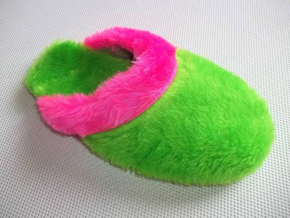 Pantufa Chinelo De Lã Feminina A Peluciada Turcatti Ref 535