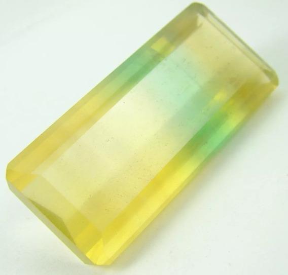 Pedra Fluorita Bicolor Faceta 52ct Natural