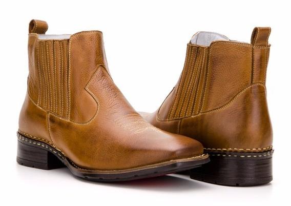 Botina Bota Masculina Country Texana Couro Capelli Boots