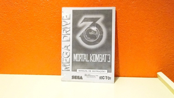 Manual Original - Mortal Kombat 3 - Mega Drive
