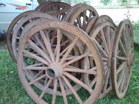Roda De Carroça Antiga De 1,10 Diâmetro! Venda Por Unidade!