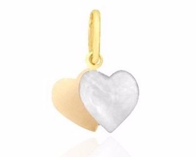 Pingente Coração Folheado A Ouro Frete Grátis