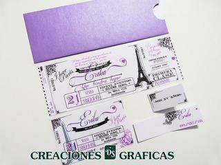 Originales Invitaciones Tipo Ticket Master En Mercado Libre