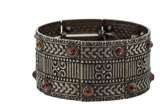 Bracelete Bohemian Ouro Velho Laranja - Unico