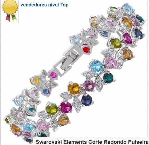 18 K Folheado-ouro Brabco-bracelete Cores