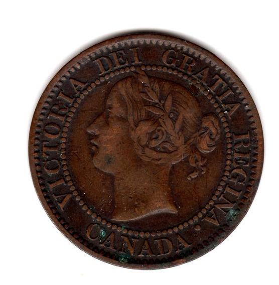 Bkz / Canadá - 1 Cent 1859 Cobre
