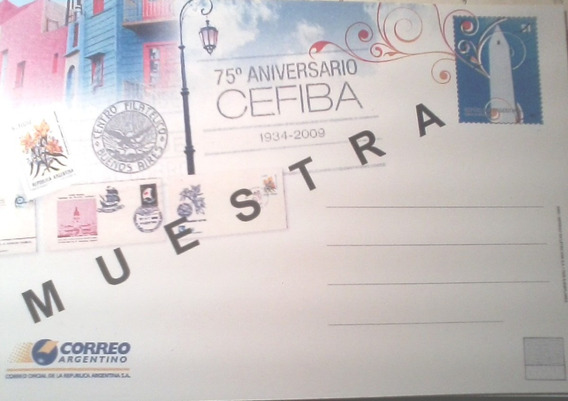 Argentina. Entero Postal Cefiba Con Sobrecarga Muestra Raro